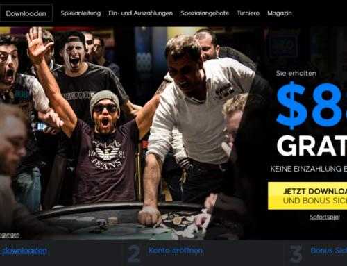Mit 888 Poker zur WSOP – 88$ Bonus geschenkt